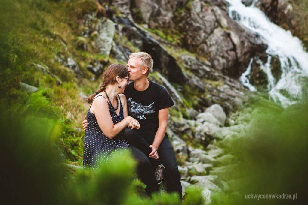 Sesja zaręczynowa pod Wodospadem Wielka Siklawa